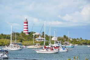 The famous historic lighthouse of Hope Town, Elbow Cay, Abaco