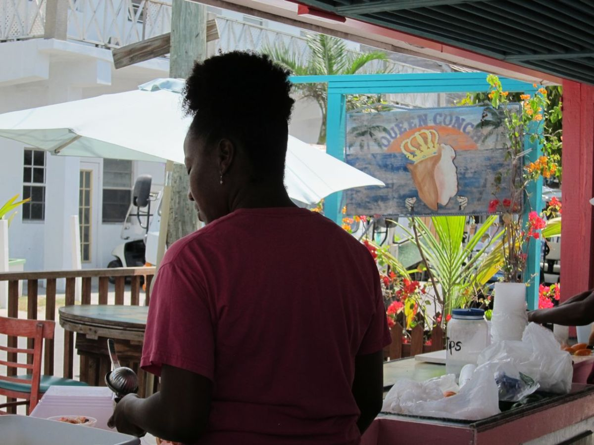 Really good conch salad being prepared right here.